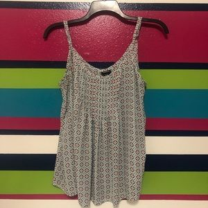 White patterned cami